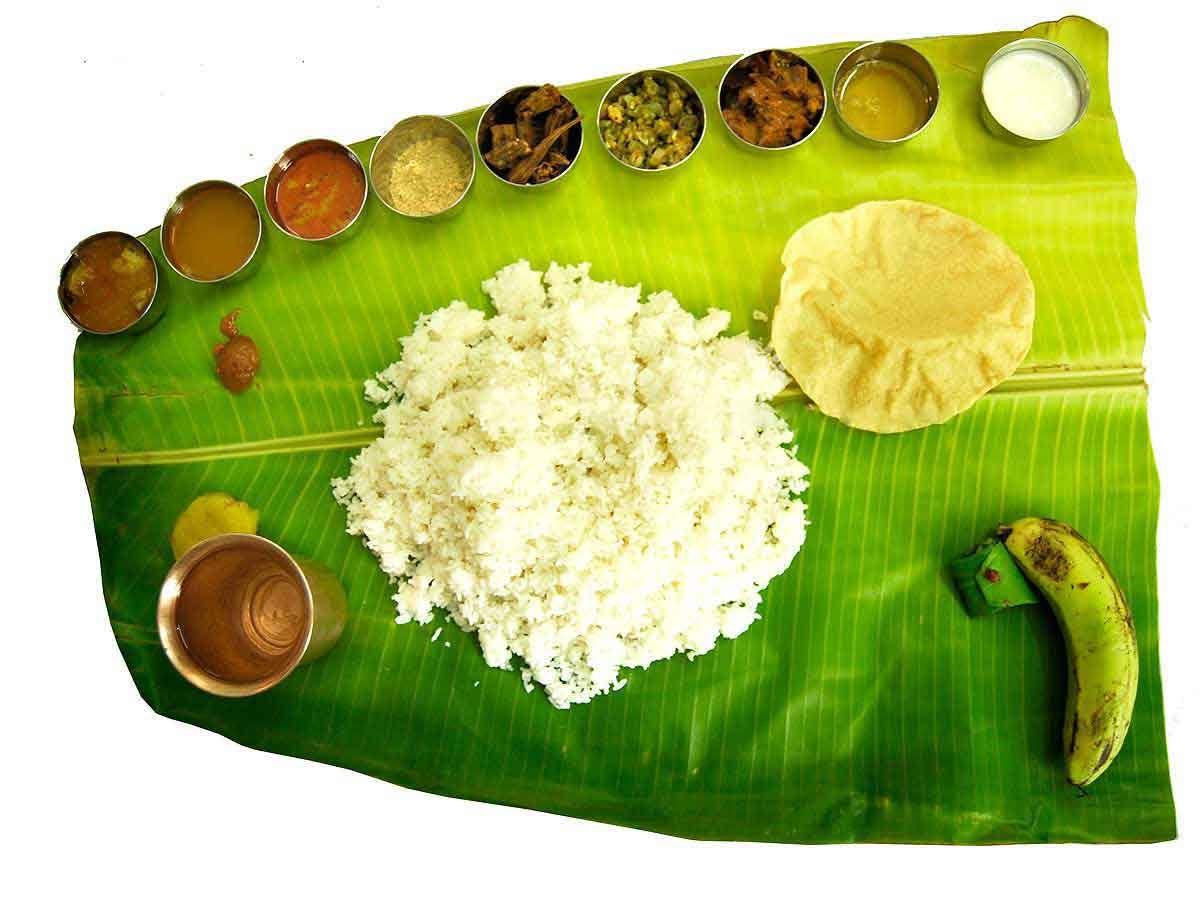Banana leaf food service